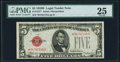 Fr. 1527* $5 1928B Legal Tender Star Note. PMG Very Fine 25