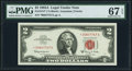 Small Size:Legal Tender Notes, Fr. 1514* $2 1963A Legal Tender Star Note. PMG Superb Gem Unc 67 EPQ.. ...