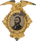 """Political:Ferrotypes / Photo Badges (pre-1896), Ulysses S. Grant: Classic """"Acts Not Words"""" 1868-Dated Ferrotype Badge.. ..."""