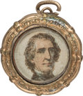 Political:Small Miscellaneous (pre-1896), John Tyler: Rare Pendant with Color-Tinted Portrait Under Glass.. ...
