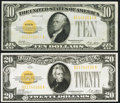 Small Size:Gold Certificates, Fr. 2400 $10 1928 Gold Certificate. Very Fine-Extremely Fine;. Fr. 2402 $20 1928 Gold Certificate. Very Fine-Extremely Fin... (Total: 2 notes)