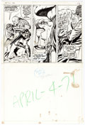 Original Comic Art:Panel Pages, Dick Ayers and Syd Shores Sgt. Fury and His HowlingCommandos #90 Half-Page 12 Original Art (Marvel, 1971)....