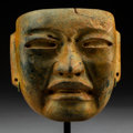 Pre-Columbian:Stone, An Important Olmec Mask . c. 300-500 BC...