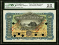 World Currency, Hong Kong Mercantile Bank of India, Ltd. 50 Dollars ND (1912-30) Pick 238cts KNB14 Color Trial Specimen PMG About Uncircul...
