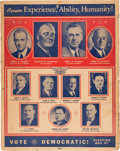 Political:Posters & Broadsides (1896-present), Roosevelt & Wallace: Possibly Unique Illinois Multigate Cardboard Coattail Poster....
