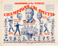 Political:Posters & Broadsides (1896-present), Al Smith: Wonderful Babe Ruth Endorsement Poster. ...