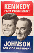 "Political:Posters & Broadsides (1896-present), Kennedy & Johnson: Very Large ""Floating Heads"" Jugate Poster...."