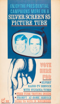 John F. Kennedy and Richard Nixon: Outstanding Debates Advertising Poster