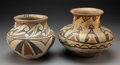 American Indian Art:Pottery, Two San Ildefonso Polychrome Jars. c. 1900 - 1920... (Total: 2 Items)