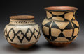 American Indian Art:Pottery, Two Southwest Polychrome Jars. c. 1890 and 1940... (Total: 2 Items)