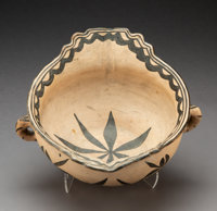 A Tesuque Terraced Bowl with Handles c. 1915