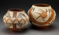 American Indian Art:Pottery, Two Zia Polychrome Jars. c. 1920 and 1950... (Total: 2 Items)