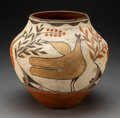 American Indian Art:Pottery, A Zia Four-Color Jar. c. 1930...