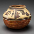 American Indian Art:Pottery, A Polacca Polychrome Jar. c. 1870...