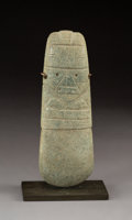 Pre-Columbian:Stone, A Large Costa Rica Axe God . c. 300-500 AD. ...