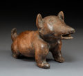 Pre-Columbian:Ceramics, A Colima Dog Sitting on Haunchesc. 250 BC - 25...