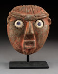 An Important Classic Maya Stone Mask c. 300-600 AD