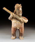 Pre-Columbian:Ceramics, A Colima Large Standing Male with Clubc. 250 B...