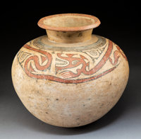 A Heavily Restored Cocle Gourd-Shaped Vessel c. 100 BC - 100 AD / 20th century
