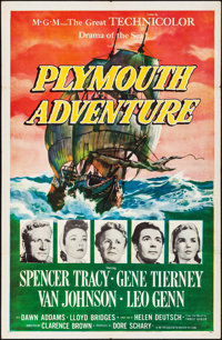 """Plymouth Adventure & Other Lot (MGM, 1952). Folded, Overall: Very Fine-. One Sheets (2) (27"""" X 41""""). A..."""