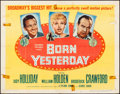 "Movie Posters:Comedy, Born Yesterday (Columbia, 1950). Folded, Fine/Very Fine. Half Sheet (22"" X 28""). Comedy.. ..."