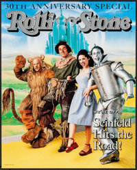 """Rolling Stone Magazine: Seinfeld (Rolling Stone, 1998). Rolled, Fine/Very Fine. 30th Anniversary Poster (18.25"""" X 2..."""