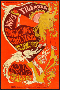 "Procol Harum & Pink Floyd at the Fillmore (Bill Graham Presents, 1967). Very Fine-. Concert Poster (14"" X 2..."