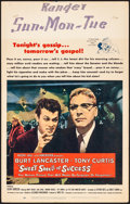 "Movie Posters:Drama, Sweet Smell of Success (United Artists, 1957). Very Fine-. Window Card (14"" X 22""). Drama.. ..."