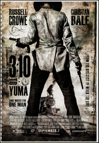 "3:10 to Yuma (Lions Gate, 2007). Rolled, Very Fine+. Printer's Proof One Sheet (28"" X 41"") SS Advance. Western..."