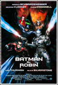 "Movie Posters:Action, Batman & Robin (Warner Brothers, 1997). Rolled, Very Fine/Near Mint. Printer's Proof One Sheets (2) (28"" X 41"") DS Advance &... (Total: 2 Items)"