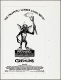 "Movie Posters:Horror, Gremlins (Warner Brothers, 1984). Rolled, Very Fine/Near Mint.Printer's Proof One Sheet (35"" X 46"") Olympics Style. Horror...."