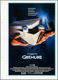 "Gremlins (Warner Brothers, 1984). Rolled, Very Fine. Printer's Proof Spanish Language One Sheet (30"" X 42""). J..."