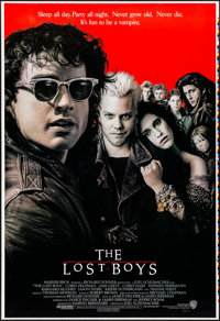 "The Lost Boys (Warner Brothers, 1987). Rolled, Near Mint. Printer's Proof One Sheet (28"" X 41""). John Alvin Ar..."