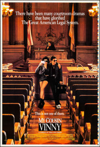 "My Cousin Vinny (20th Century Fox, 1992). Rolled, Very Fine+. Printer's Proof One Sheet (28"" X 41"") DS. Comedy..."