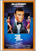 """Movie Posters:James Bond, Never Say Never Again (Warner Brothers, 1983). Rolled, Very Fine+. First Printer's Proof One Sheet (30"""" X 42""""). Rudy Obrero ..."""
