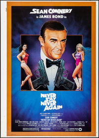 "Never Say Never Again (Warner Brothers, 1983). Rolled, Very Fine+. First Printer's Proof One Sheet (30"" X 42"")..."