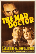 "Movie Posters:Crime, The Mad Doctor (Paramount, 1941). Fine/Very Fine on Linen. OneSheet (27"" X 41""). Crime.. ..."