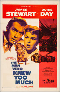 """The Man Who Knew Too Much (Paramount, 1956). Fine/Very Fine on Linen. One Sheet (27"""" X 41""""). Hitchcock"""