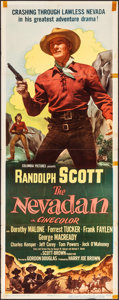 """Movie Posters:Western, The Nevadan & Other Lot (Columbia, 1950). Folded, Fine/Very Fine. Inserts (2) (14"""" X 36""""). Western.. ... (Total: 2 Items)"""