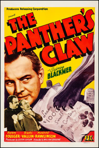 """The Panther's Claw (PRC, 1942). Rolled, Fine/Very Fine. One Sheet (27"""" X 41""""). Mystery"""
