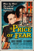 "Movie Posters:Film Noir, The Price of Fear (Universal International, 1956). Very Fine onLinen. One Sheet (27.5"" X 41""). Film Noir.. ..."