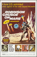 "Movie Posters:Science Fiction, Robinson Crusoe on Mars (Paramount, 1964). Folded, Very Fine. OneSheet (27"" X 41""). Science Fiction.. ..."