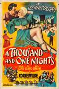 "Movie Posters:Adventure, A Thousand and One Nights (Columbia, 1945). Folded, Fine/Very Fine. One Sheet (27"" X 41""). Adventure.. ... (Total: 2 Items)"