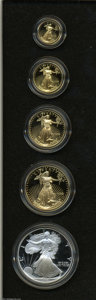 Proof Sets: , A 1995-W 10th Anniversary Set of Proof Bullion Coins....