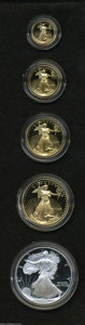 Proof Sets: , 1995-W 10th Anniversary American Eagle Set including the Silver Eagle.... (5 Coins)