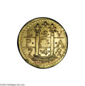 Colonials: , 1742 DBLN Brasher Lima Style Doubloon. XF40 NGC....
