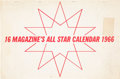 "Music Memorabilia:Memorabilia, The Beatles/Rolling Stones/Dave Clark 5 and ""16 Magazine's All Star Calendar 1966."" . ..."
