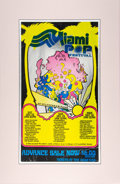 Music Memorabilia:Posters, Miami Pop Festival Three-Day 1968 Concert Poster w/Grateful Dead.. ...