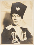 Movie/TV Memorabilia:Autographs and Signed Items, Rudolph Valentino Stamped Signed Picture.. ...