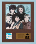 Music Memorabilia:Autographs and Signed Items, The Go-Go's Signed Beauty and the Beat In-House Award Presented to Tower Records (IRS, 1981). . ...